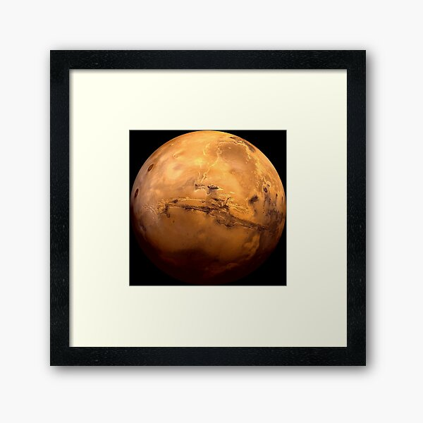 Mars Planet - Most detailed image EVER! Apparel and Gifts Framed Art Print