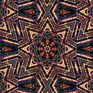"""On the Edge of Reason"" (Earth Tones) - Geometric Abstract Mandala  by Leah McNeir"
