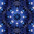 """""""On the Edge of Bliss"""" (Blue Tones) - Geometric Abstract Mandala  by Leah McNeir"""
