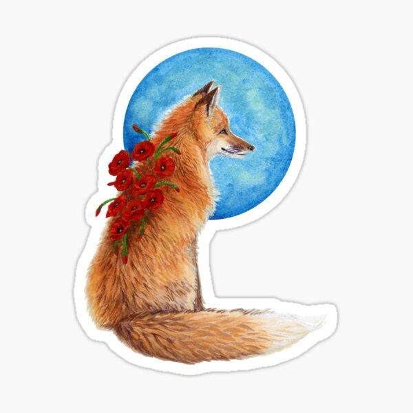Poppy Fox Sticker