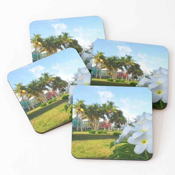 Colourful Cottages  Coasters (Set of 4)