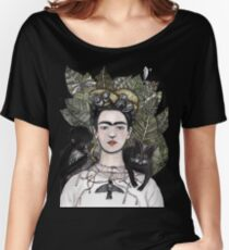 Frida Kahlo self portrait version Women's Relaxed Fit T-Shirt