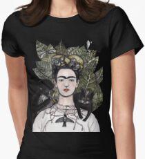 Frida Kahlo self portrait version Women's Fitted T-Shirt