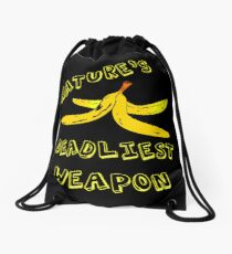 "Banana Peel ""Nature's Deadliest Weapon"" Drawstring Bag"