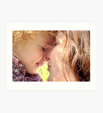 The love of a child Art Print