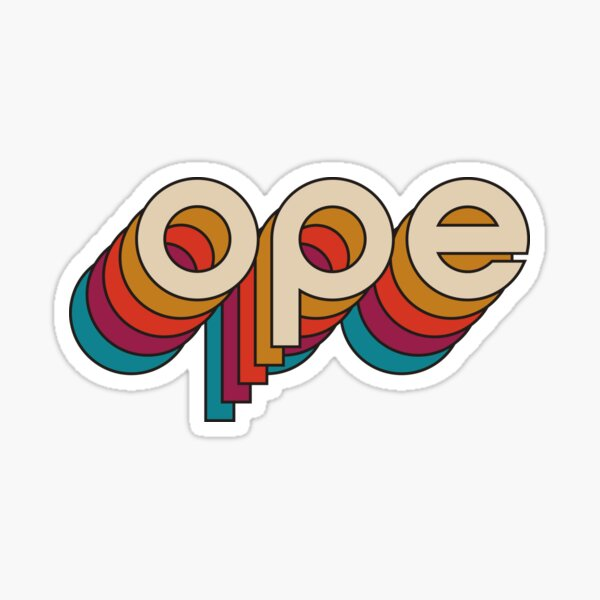 Disco Ope Sticker