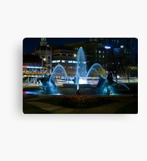 Plaza Fountain Canvas Print