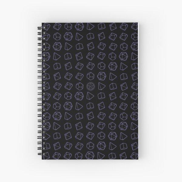 Violet Dice on Black Spiral Notebook