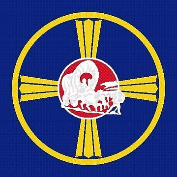 Flag of Omaha, Nebraska by PZAndrews