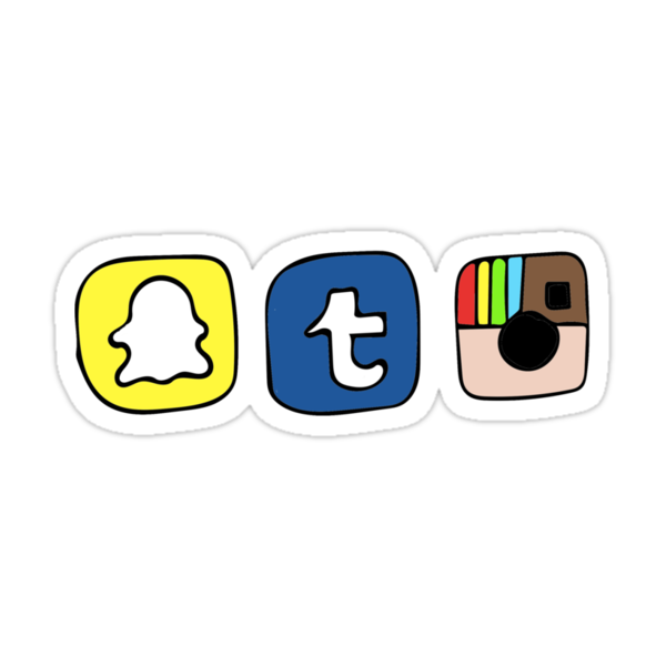Tumblr Instagram Snapchat Apps Stickers Par