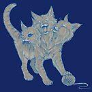 The Mighty... Purrberus! (Original Blue) by KLeCrone