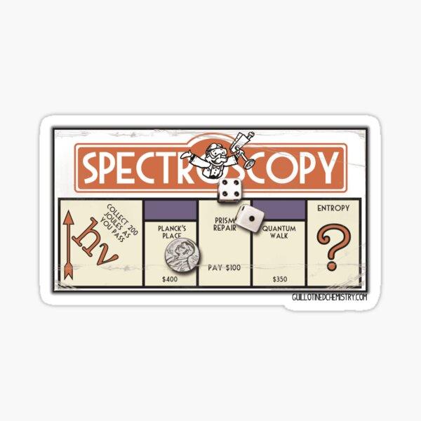 Spectroscopy Board Game Parody Sticker