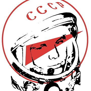Gagarin, soviet cosmonaut, first man in space by KosmonautLaika