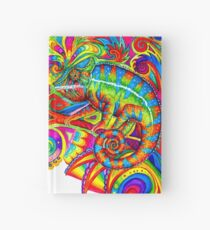 Psychedelizard Psychedelic Chameleon Colorful Rainbow Lizard Hardcover Journal