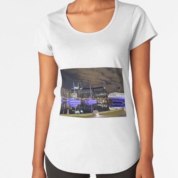 Melbourne. City. Nightscape. Docklands Premium Scoop T-Shirt
