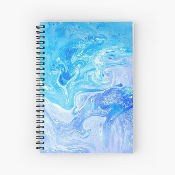 Turquoise Blue Unicorn Watercolors Artwork Spiral Notebook