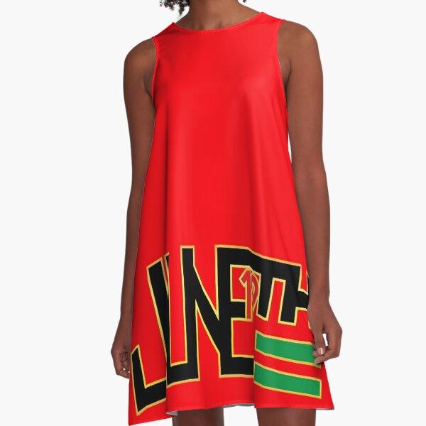 JUNETEENTH Logo A-Line Dress