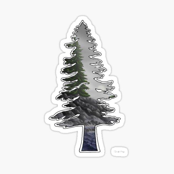Tall Trees Cold Seas Sticker