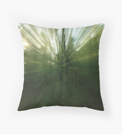 can you see the forrest through the trees? Throw Pillow