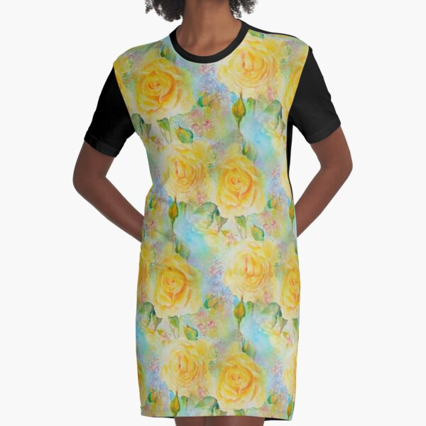 Happy roses Graphic T-Shirt Dress