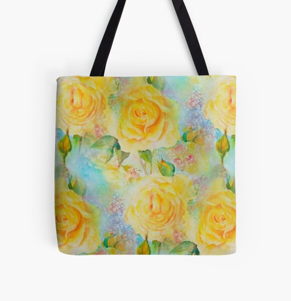 Happy roses All Over Print Tote Bag