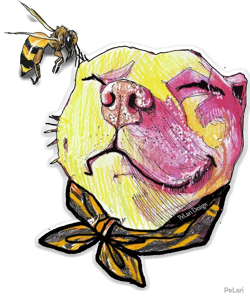 Pitbull dog and her friend, Honey Bee\