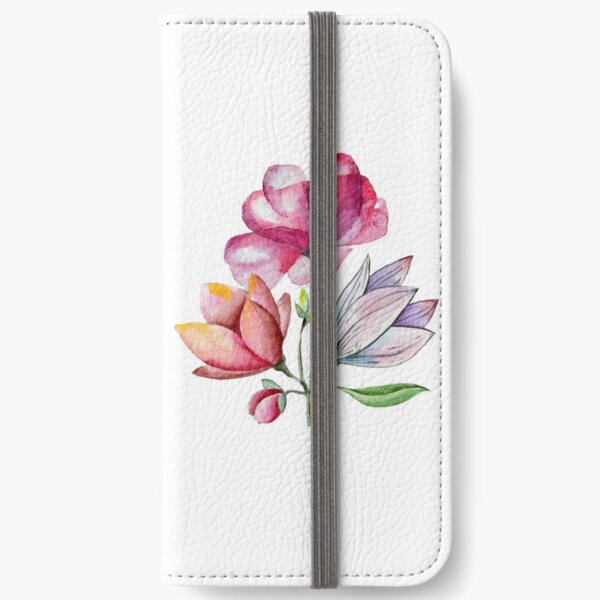Watercolor Flowers iPhone Wallet