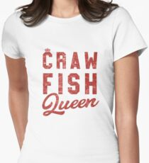 3cd284b87c Crawfish Queen Funny Louisiana Crawfish Women's Gift Fitted T-Shirt