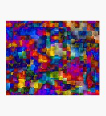 Cloudy Cubes Photographic Print
