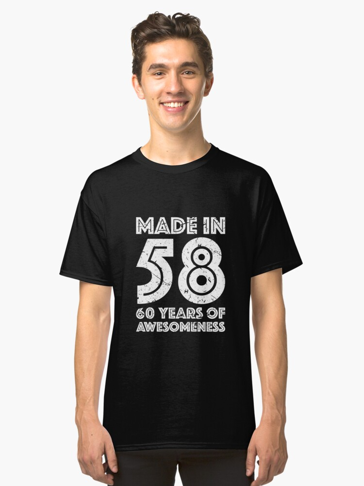 60th Birthday Gift Adult Age 60 Year Old Men Women Classic T Shirt By Mattlok