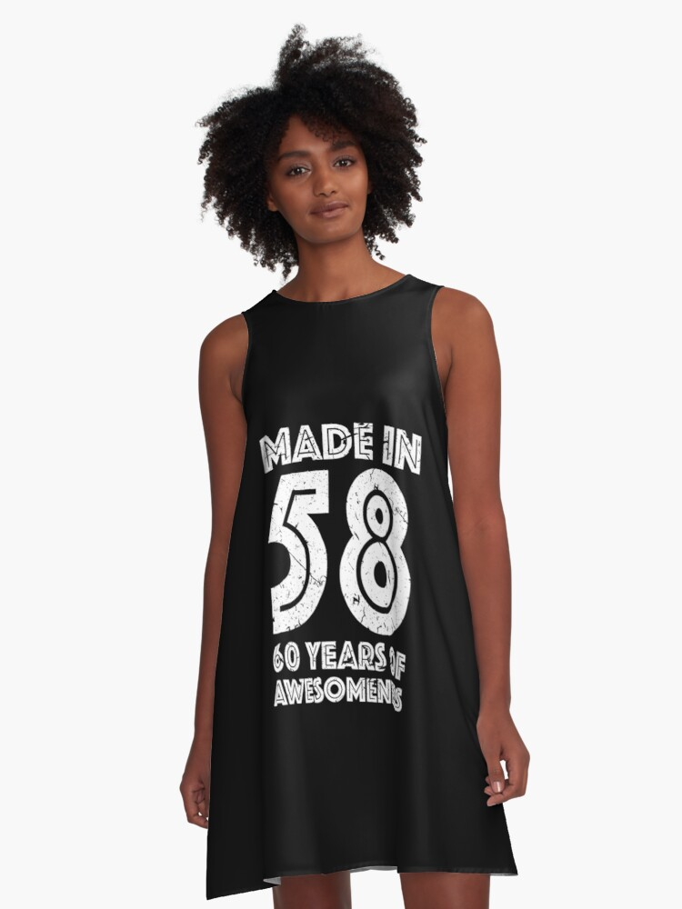 60th Birthday Gift Adult Age 60 Year Old Men Women A Line Dress Front