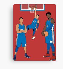 The Sixers' Big 3 Canvas Print