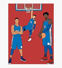 The Sixers' Big 3 Photographic Print