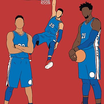 The Sixers' Big 3 by RatTrapTees