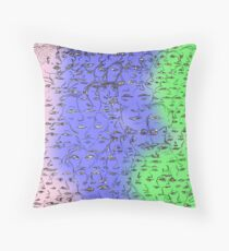 We are all merged with each other Throw Pillow