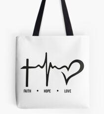faith, hope and love Tote Bag
