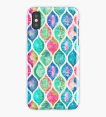 Watercolor Ogee Patchwork Pattern iPhone Case