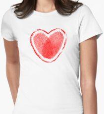 Hearth fingerprint Womens Fitted T-Shirt