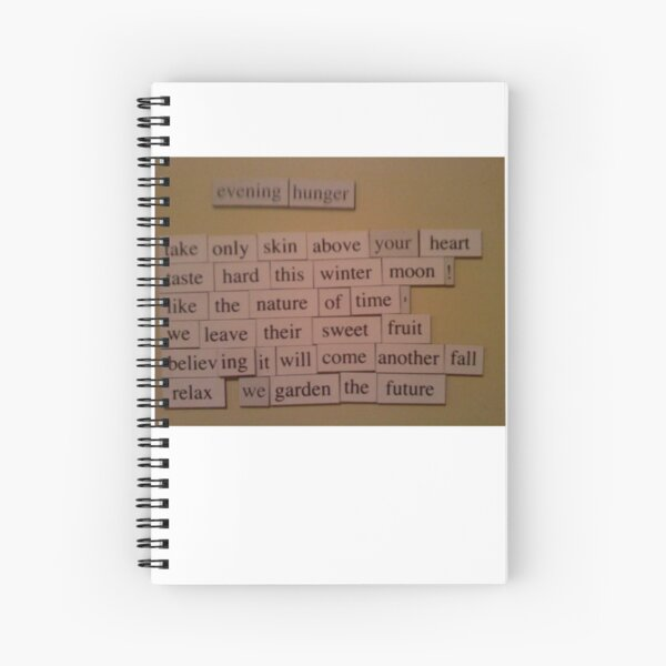 Evening Hunger poem Spiral Notebook