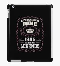 June 1985 The Birth Of Legends iPad Case/Skin