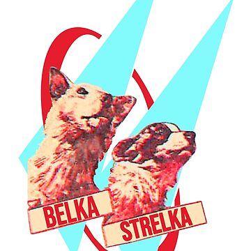 strelka and belka, space travellers by KosmonautLaika
