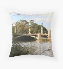 """""""King William Street Bridge, Adelaide, SA"""" Throw Pillow"""