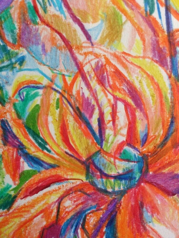 Orange expressive flower detail by VicCollider