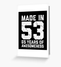 65th Birthday Gift Adult Age 65 Year Old Men Women Greeting Card