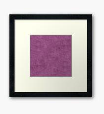 Amethyst Oil Pastel Color Accent Framed Print