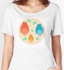 Cartoon funny hamsters Women's Relaxed Fit T-Shirt