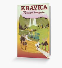 Kravica Waterfalls  Bosnia and Herzegovina Greeting Card