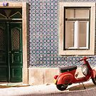 Scooter And Lisbon Door Souvenirs by for91days