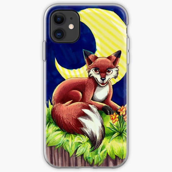 moon fox iPhone Soft Case