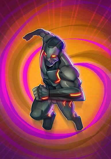 Fortnite Battle Royale Omega Epic Skin Fan Art Posters By Behn